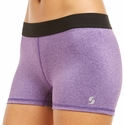 Soffe Dri Purple Heather Spandex Shorts
