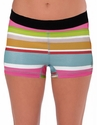 Soffe-Dri Sarah Stripe / Black Junior's Compression Shorts