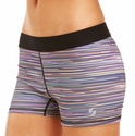 Soffe Dri Dark Rainbow Linear Spandex Shorts