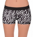 Soffe-Dri Zebra Stripe Junior's Compression Shorts