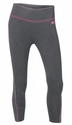 Soffe Gunmetal & Pink Catch Me Capri - Volleyball Sport Script Imprint - Rear or Leg