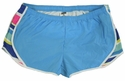 Soffe Blue & Katy Stripes w/ White Piping Track Shorts