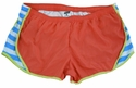 Soffe�s Cayenne & Bonnie Blue Stripes w/ Kool Kiwi Piping Track Shorts