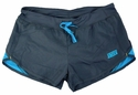 Soffe's Gunmetal Grey & Blue Modern Team Running Shorts