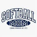 Softball Mom / Grandma, Proud Of It Hooded Sweatshirt - in 20 Hoodie Colors