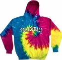 Sport Printed Tie-Dye Hooded Sweatshirt in 22 Sports and 7 Bright Hoodie Colors