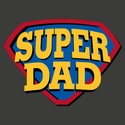 Super Dad Long Sleeve Shirt - in 18 Shirt Colors