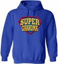 Super Grandma & Super Grandpa Design Hooded Sweatshirt - in 20 Hoodie Colors