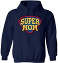 Super Mom & Super Dad Design Hooded Sweatshirt - in 20 Hoodie Colors