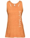 Orange Heather Racerback Tank Top w/ 16 Sport Prints
