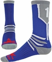Team Number Prime Royal Blue & Grey Crew Sock