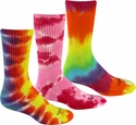Tie-Dye Crew Socks - in 3 Bright Colors