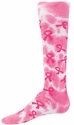 Tie Dye Pink Ribbon Knee High Socks