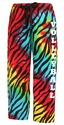 Tie-Dye Zebra Stripe Flannel Pants - Choice of 22 Sport Imprints - Leg or Rear - in 2 Fonts
