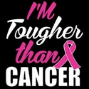 Tougher Than Cancer Pink Ribbon Awareness T-Shirt - in 27 Shirt Colors