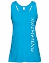 Turquoise Slub-Knit Racerback Flare Tank Top � in 16 Sports
