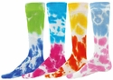 Two Tone Tie-Dye Tube Socks - in 4 Colors