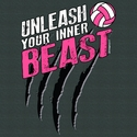Unleash Your Inner Beast Volleyball Design Dark Grey T-Shirt