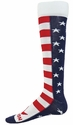 USA Flag Stripes & Stars Brave Knee-High Socks