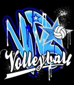 VB Star Volleyball Design Long Sleeve Black Shirt