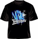 VB Star Volleyball Design Black T-Shirt