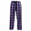 Vivid Violet Flannel Tie-Cord Pants - Choice of 22 Sport Imprints on Leg or Rear