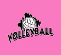 Volleyball Brush Design Long Sleeve Shirt - in 18 Shirt Colors