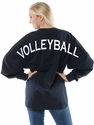 Volleyball Crewneck Jersey Oversize Pullover - in 5 Colors