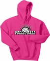 Volleyball Splatter Design Hooded Sweatshirt - in 20 Hoodie Colors