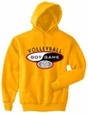 Volleyball Got Game Design Hooded Sweatshirt - in 20 Hoodie Colors