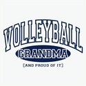 Volleyball Grandma, Proud Of It Design T-Shirt - in 27 Shirt Colors