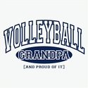 Volleyball Grandpa, Proud Of It Design T-Shirt - in 27 Shirt Colors