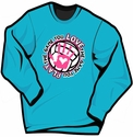 Volleyball Handprint Long Sleeve Blue Shirt