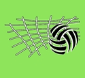 Volleyball Net & Ball Design T-Shirt - in 27 Shirt Colors