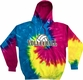 Volleyball Rising Design Tie Dye Hooded Sweatshirt - in 4 Hoodie Colors