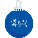 Snowflakes Volleyball Tree Ornament - in 3 Colors
