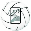 Volleyball Spike-It Photo Frame Magnet