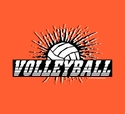 Volleyball Splatter Design T-Shirt - in 27 Shirt Colors