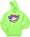Volleyball Rainbow Swish Design Hooded Sweatshirt - in 20 Hoodie Colors