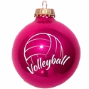 Volleyball Word & Ball Tree Ornament