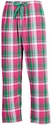 Watermelon Twist Plaid Flannel Lounge Pants - Choice of 22 Sport Imprints on Leg or Rear