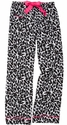 Snow Leopard Flannel Lounge Pants - Choice of 22 Sport Imprints - Leg or Rear