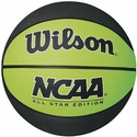 Wilson NCAA Black & Lime Green Mini Rubber Basketball
