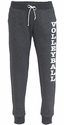 Black Heather Jogger Pants w/ Pockets - Choice of 22 Sports on Leg