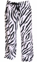Zebra Stripe Flannel Lounge Pants - Choice of 22 Sports on Rear