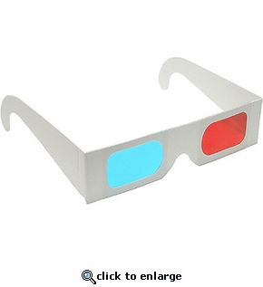 Anaglyph 3D Glasses -  Red/Cyan Lenses for Movies, Games & TV