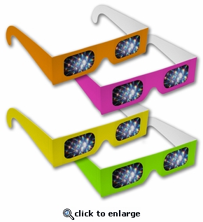 Diffraction Grating Glasses - Assorted Neon Colors