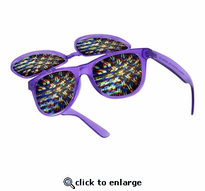 Double Rainbow Double Flip Up Diffraction Firewoks Glasses