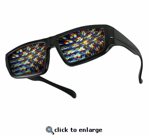 Plastic Fireworks Diffraction Rave Glasses - Pack of 2
