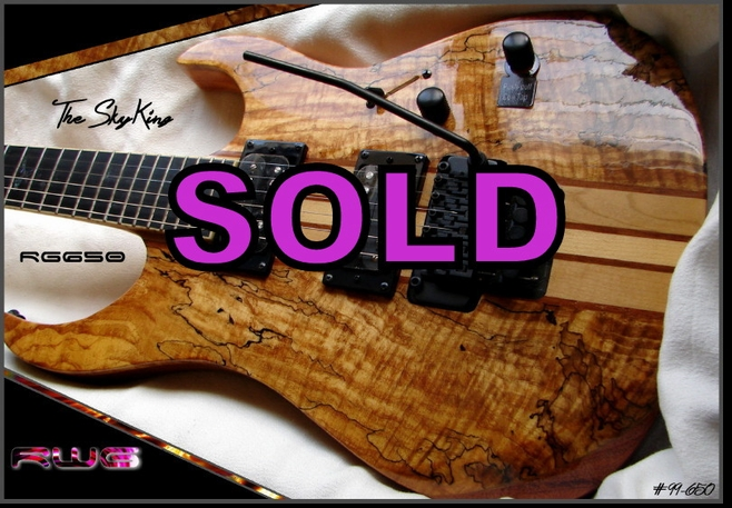 """The SkyKing"" - RG650 SPALTED MAPLE NECK THRU  #99-650"